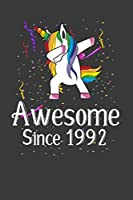 Awesome Since 1992: Perfect Birthday Notebook For 27 Years Old . Cute Cream Paper 6*9 Inch With 100 Pages Notebook For Writing Daily Routine, Journal and Hand Note