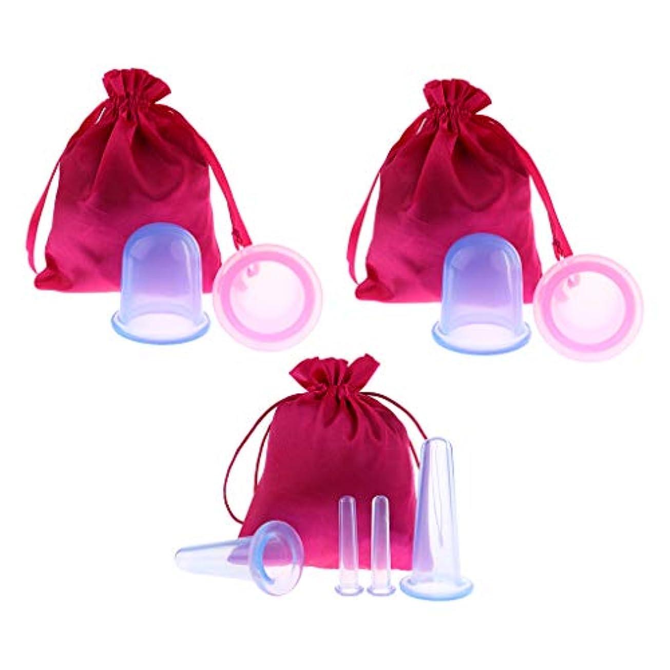 お風呂を持っているヒギンズ軽減D DOLITY 8個 真空カッピングボディカップ シリコーン