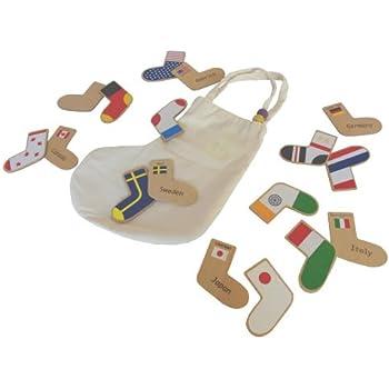 gg*(ジジ) step to the world(ステップ トゥ ザ ワールド) 国旗のメモリーゲーム 木のおもちゃ 出産祝いや誕生日プレゼントに!
