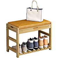 多機能ソリッドウッドシューズベンチシンプルなノルディックシューズスツールシューキャビネットのドアは、靴のベンチに座ることができます (色 : C)