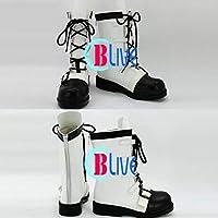 ●●サイズ選択可●●I0928ZCI コスプレ靴 ブーツ ギルティクラウン GUILTY CROWN リローデッド 楪いのり ゆずりはいのり 男性25.5CM