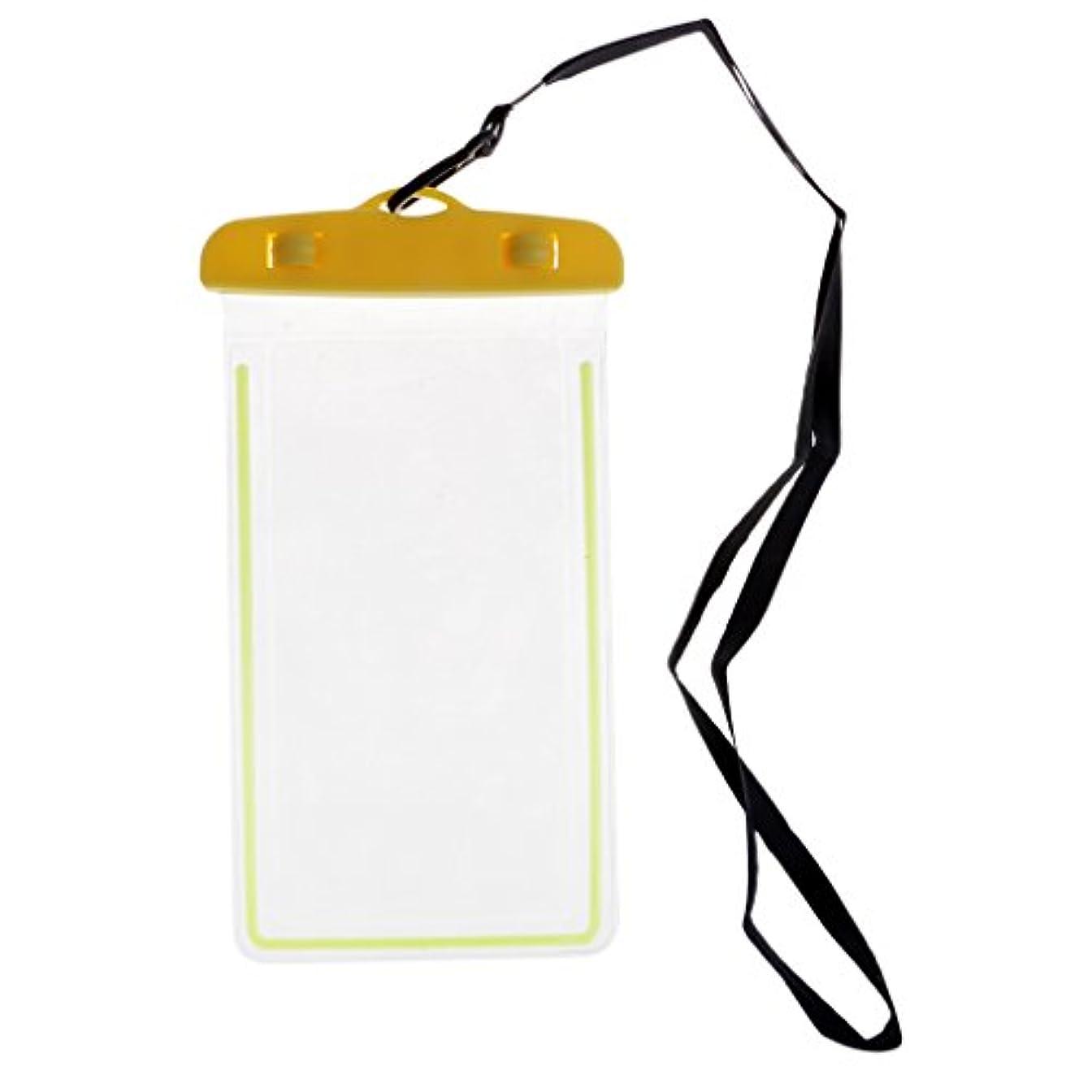 アイドル理論的付けるSunniMix 防水ケース 水中ポーチ ドライバッグ ケース カバー 屋外 携帯電話 ドリフトバッグ 水泳バッグ 透明 PVC 防水スリーブ 最大6インチスマホに対応 全8色