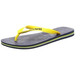 [ハワイアナス] ビーチサンダル BRASIL LOGO 4110850 navy blue/citrus yellow Others 39/40(25.5~26.0 cm)