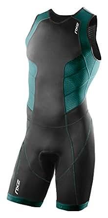 (ツータイムズユー)2XU トライアスロンウェア Perform Trisuit/Rear Zip MT3198d  BLK/LAG L