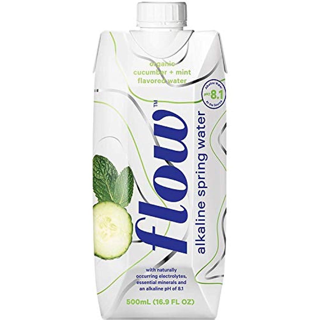 法王話臭いフロー水、有機Cucumber Mint Flavoredアルカリばね水、500 ml (Pack of 12 )