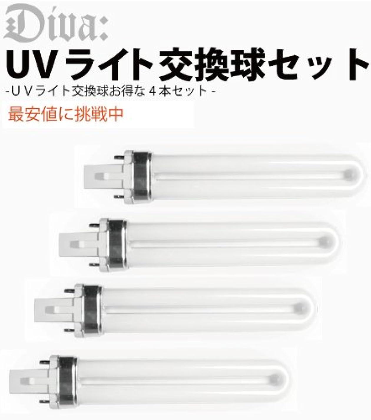 最大ドキドキフェザーUVライト36W 交換ライト ランプ 4本セット