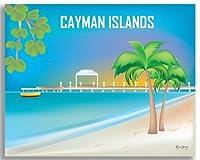 ケイマン諸島–レトロ旅行壁アート–から選択WrappedキャンバスまたはGicleeポスターPrints 16x20 Canvas Wrap CW-16-CAY