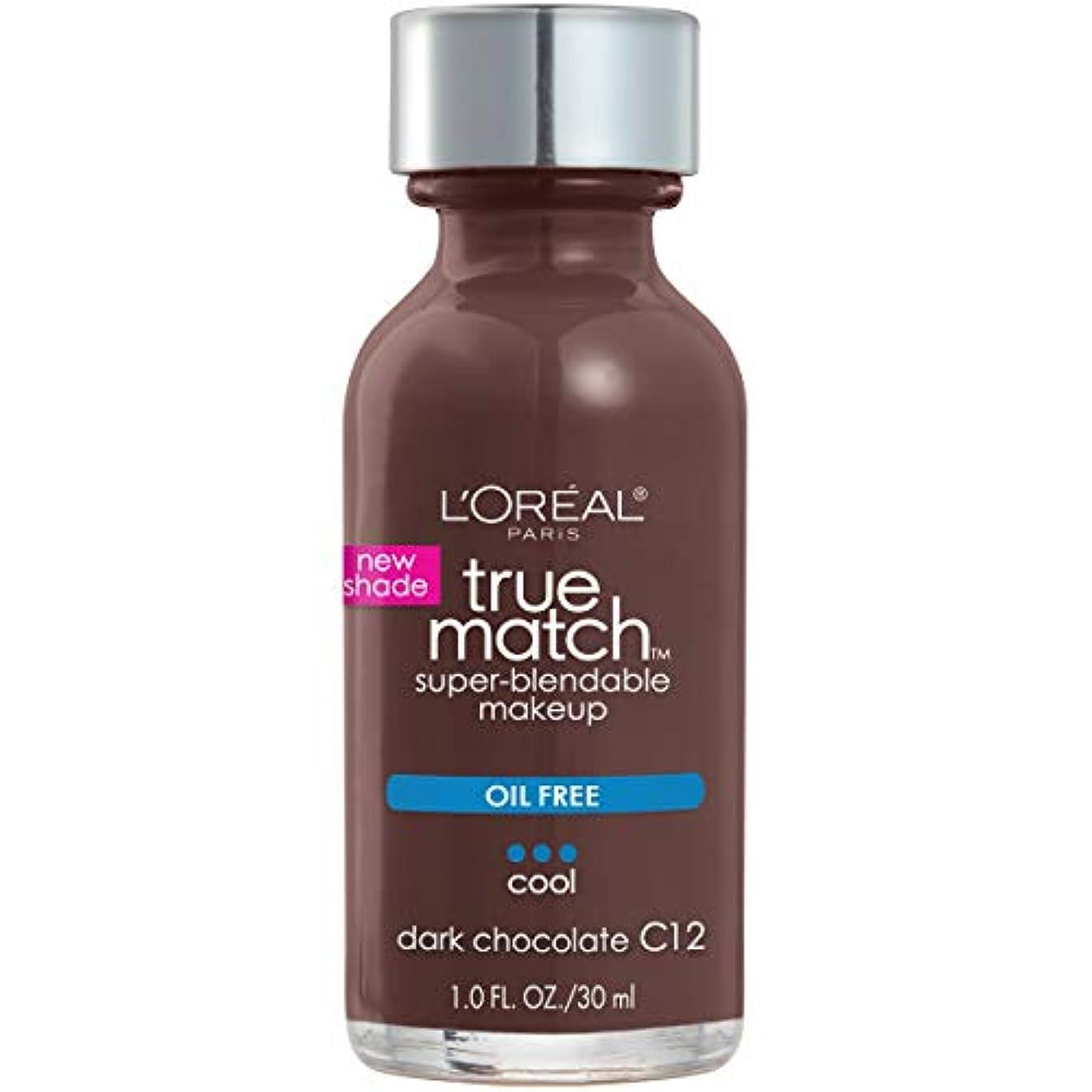 管理海峡ひもマトンL'Oréal True Match Super-Blendable Foundation Makeup (DARK CHOCOLATE)