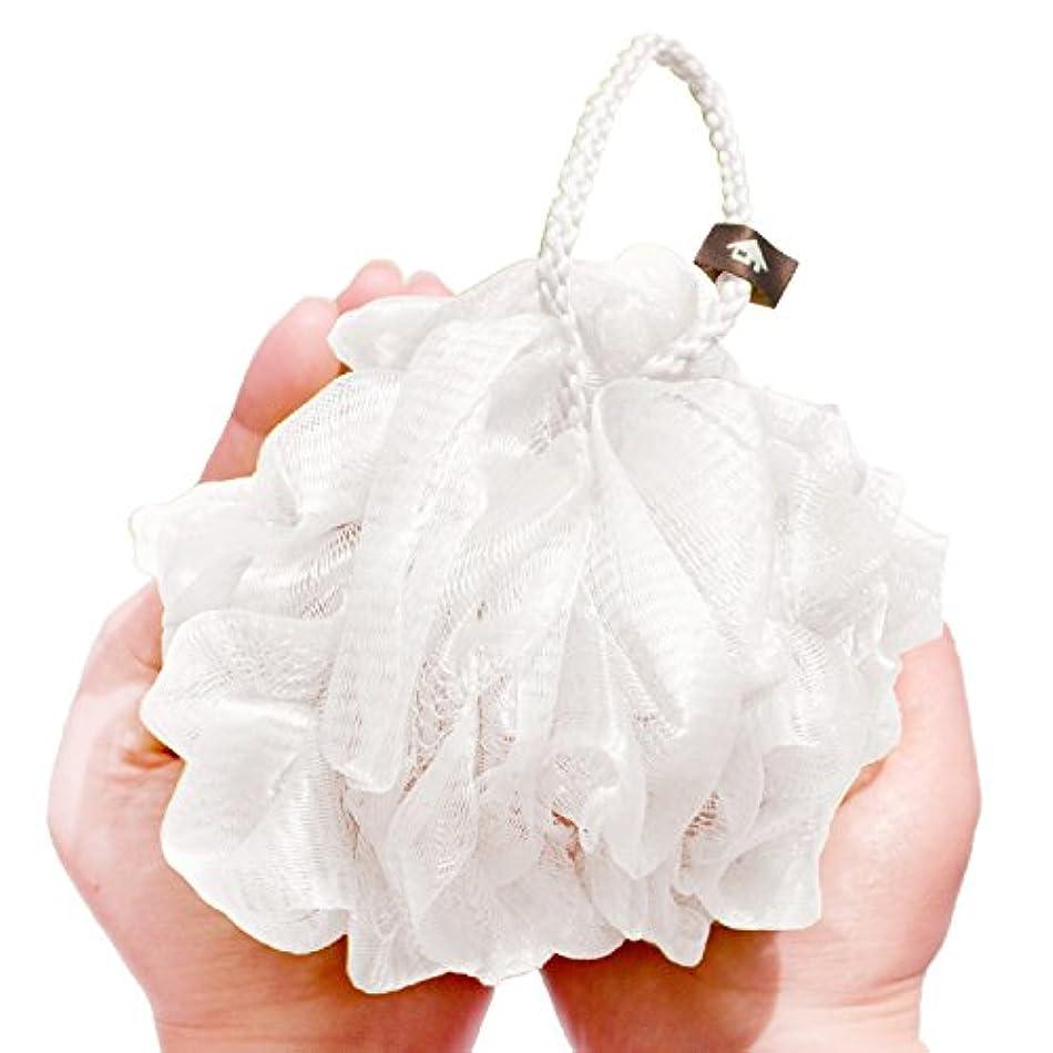 できた柔らかさビリーオカ 泡立てネット ホワイト Lサイズ PLYS(プリス)シルキーウォッシュ