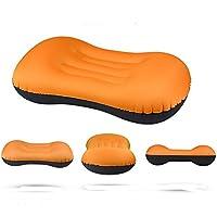 インフレータブルピロー収納袋付き トラベルピロー 腰枕 空気枕 エアーピロー 携帯枕 旅行用 キャンプ用品