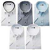 [フリック]ワイシャツ 半袖 5枚セット 7サイズ M(ノーマル) Bセット/flm-s51-m-20190422-b