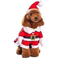 ペット サンタ 変身服 かわいい おもしろ コスプレ 帽子 マント 5本指 M