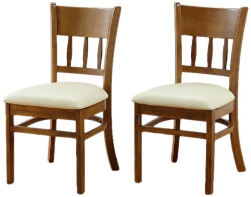 クロシオ ダイニングチェアー 2脚組 マーチ ライトブラウン 椅子 イス 木製