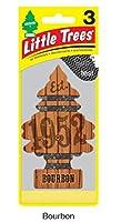 Little Trees 吊下げタイプ エアーフレッシュナー Bourbon 3枚セット(3P) U3S-32975