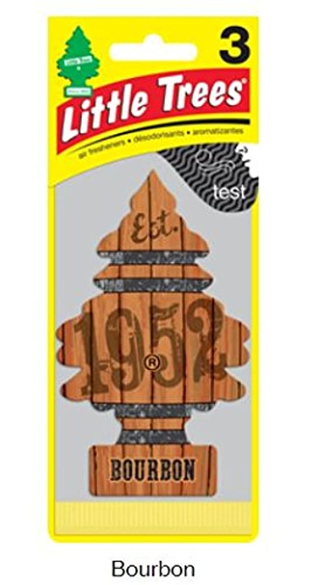 立場の配列チラチラするLittle Trees 吊下げタイプ エアーフレッシュナー Bourbon 3枚セット(3P) U3S-32975