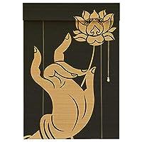 CAIJUN ウッドブラインド 竹 ローラーブラインド 竹すだれ 日焼け止め アンチUV 印刷ローラーブラインド 仕切りカーテン 室内装飾、 5つのスタイル カスタムサイズ (Color : D, Size : 120x180cm)