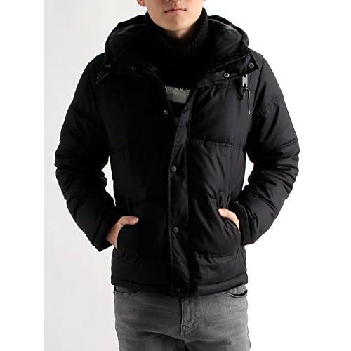 (ラフタス)Rafftas ヘリンボーン 中綿 ダウンジャケット M サイズ ブラック 秋 冬 防寒 ウィンタージャケット アウター コート メンズ