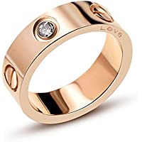 Love Zircon Ring-Rose Gold Lifetime Just Love You With Ring(5-10)