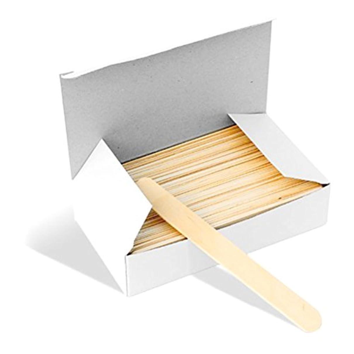 クラック法令数ROSENICE 舌圧子 使い捨て 舌圧迫器 ディスポーザブル 業務用木製 消毒済 100本入り