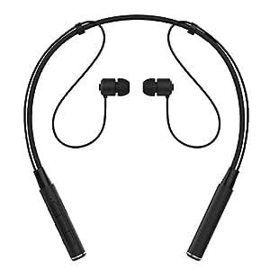 イヤホン Bluetooth ハンズフリー スポーツ ワイヤレス ブルートゥース ヘッドセット ヘッドホン ネックバンド型 (カナル) 内蔵マイク イヤフォン 防水 高音質 iPhone、Android各種対応 通話可(ブラック)