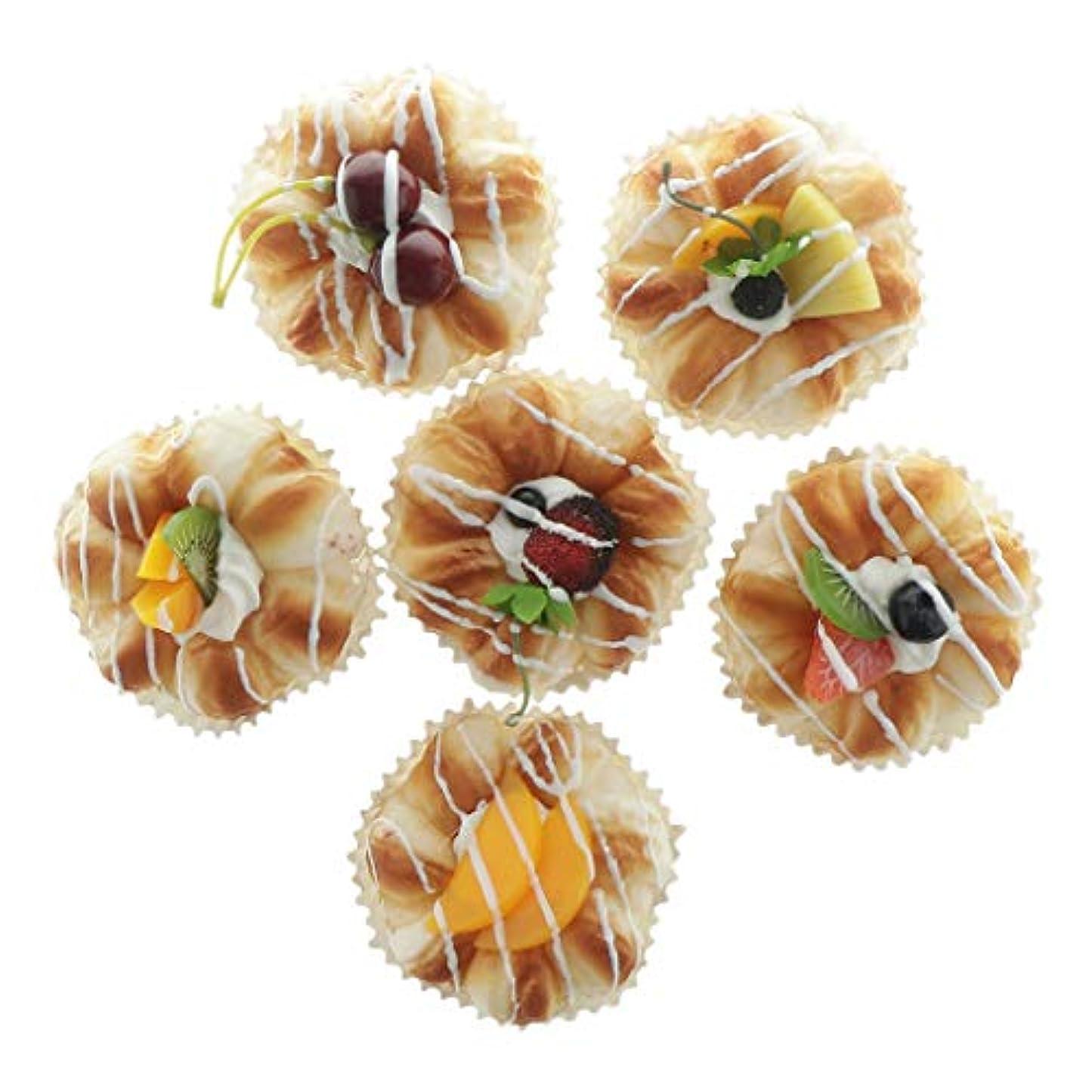 勇気ところでフェローシップ6個入 子供 ケーキモデル 食べ物 ごっこ遊び 写真 ふりプレイ おもちゃ 小道具 装飾