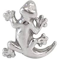 ボディピアス キャッチ 爬虫類ヘビ&トカゲ カスタマイズキャッチ (1個売) 16G トカゲ シルバー