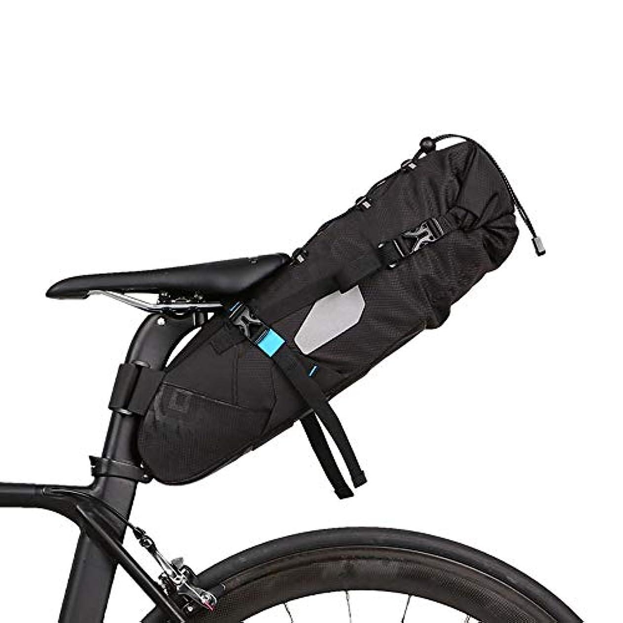 大惨事ローラーエントリ自転車シートパックバッグ ロードマウンテンバイク7L用自転車トランクバッグクイックリリースフレームバッグ 自転車サドルバッグ (Color : Black, Size : 40*14.5*11.5cm)