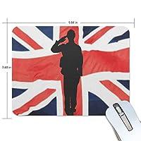 マウスパッド イギリス ロンドン 兵士 ゲーミングマウスパッド 滑り止め 19 X 25 厚い 耐久性に優れ おしゃれ