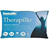Dunlopillo T2787 Therapillo Cooling Gel Medium Profile Pillow, White