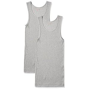 (ヘインズ) Hanes タンクトップ Aシャツ 2枚組 綿100% HM2-K701 060 ヘザーグレー M