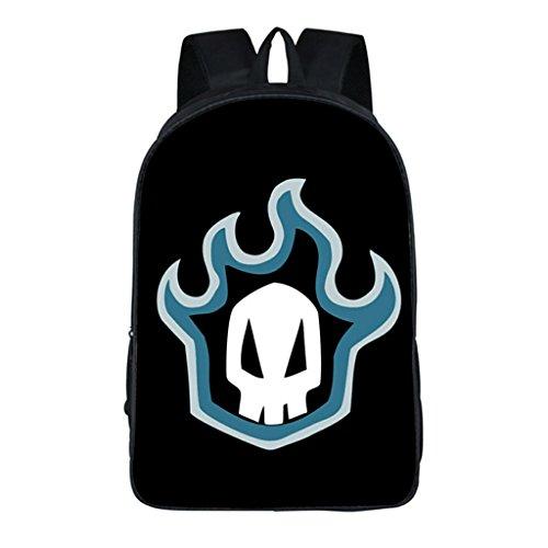 Siawasey Anime Bleachコスプレバックパックデイパックブックバッグラップトップバッグスクールバッグ