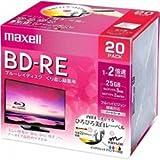 日立マクセル 録画用 BD-RE 標準130分 2倍速 ワイドプリンタブルホワイト 20枚パック BEV25WPE.20S