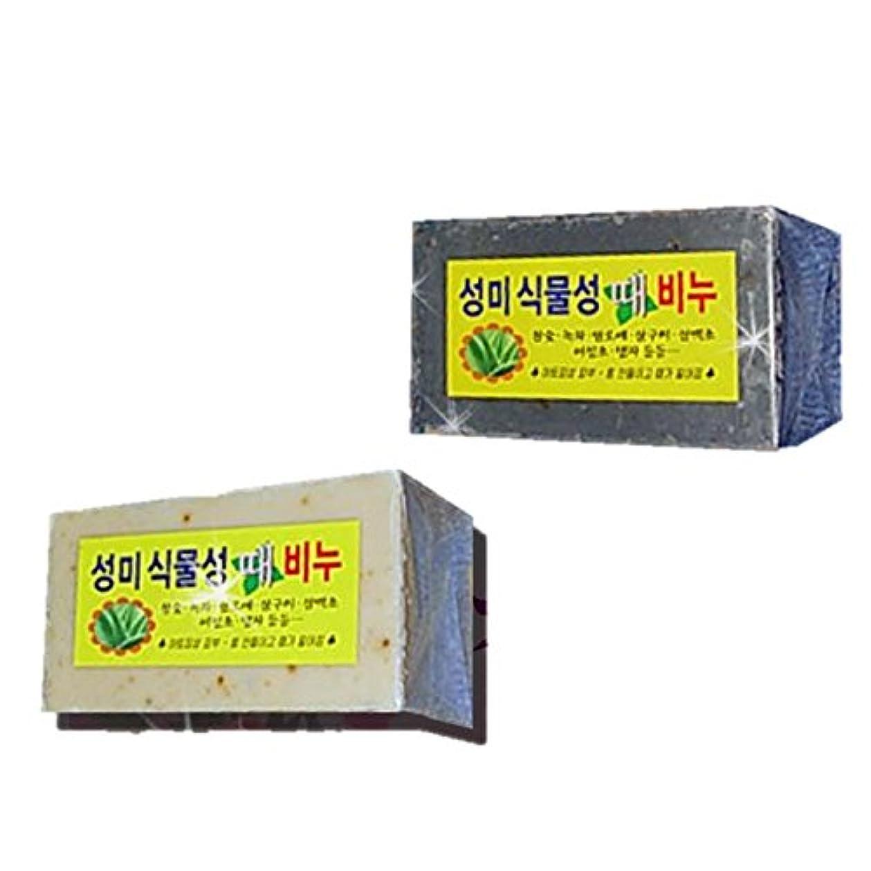 肯定的世紀貫通(韓国ブランド) 植物性 垢すり石鹸 (あかすりソープ) (5個)