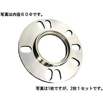 日本製 ハブ一体 ホイール スペーサー 5mm 厚  PCD100 / PCD114.3 4H / 5H 共通 M12 専用 内径60Φ 外ハブ73Φ (2枚1セット) HS-5-60