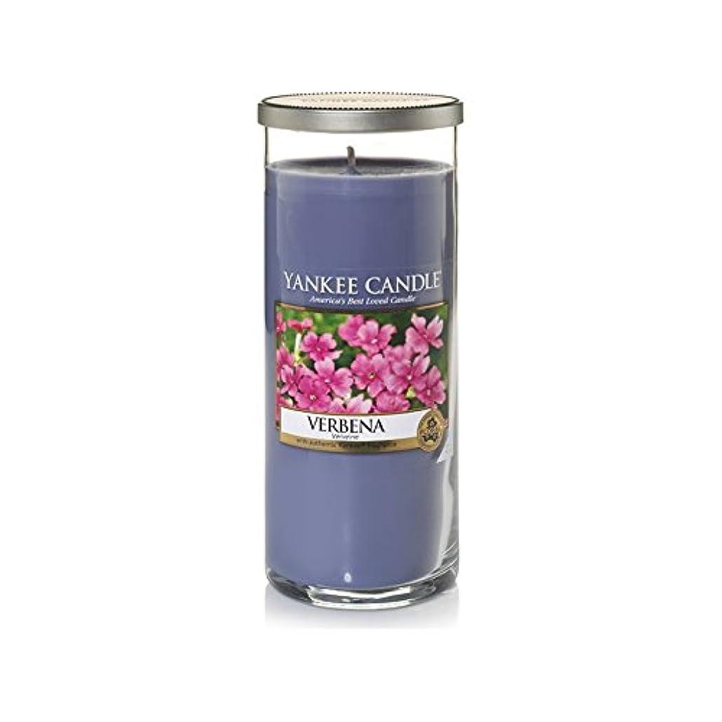 重要未接続添付Yankee Candles Large Pillar Candle - Verbena (Pack of 2) - ヤンキーキャンドル大きな柱キャンドル - バーベナ (x2) [並行輸入品]