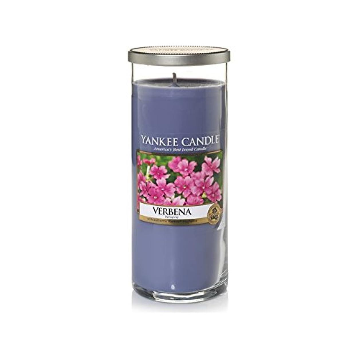 反論合法税金Yankee Candles Large Pillar Candle - Verbena (Pack of 2) - ヤンキーキャンドル大きな柱キャンドル - バーベナ (x2) [並行輸入品]
