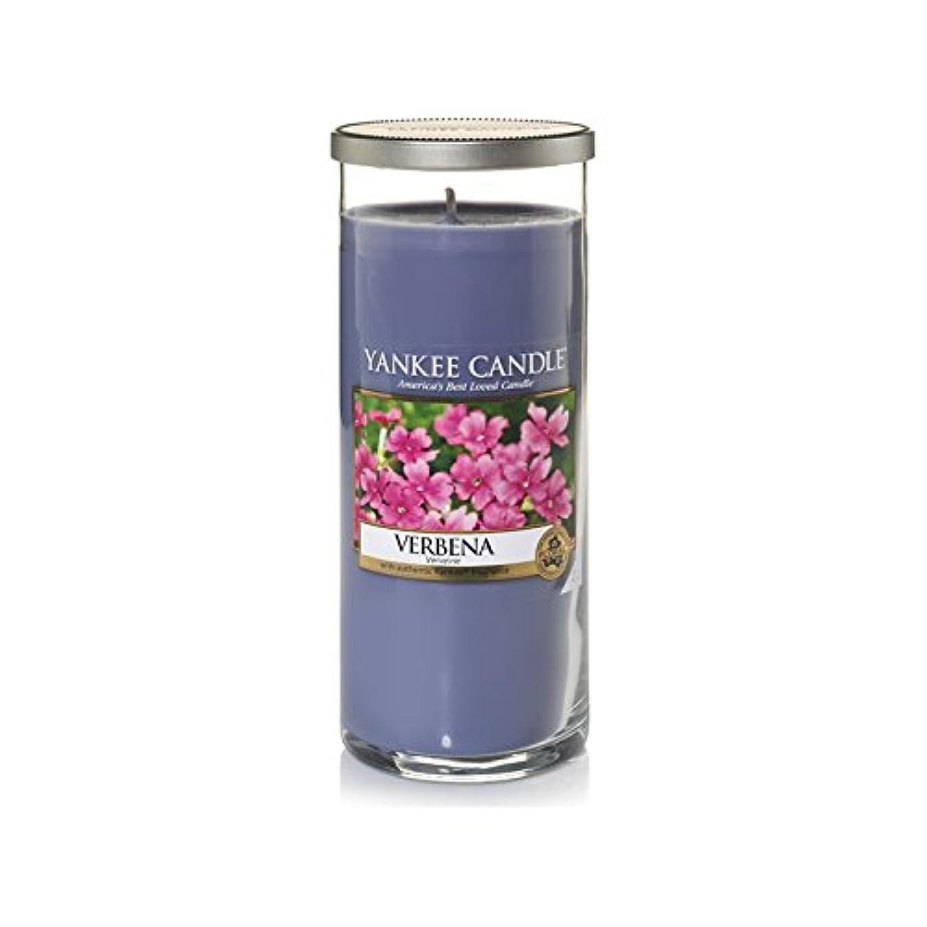 牛硬化する抑制Yankee Candles Large Pillar Candle - Verbena (Pack of 2) - ヤンキーキャンドル大きな柱キャンドル - バーベナ (x2) [並行輸入品]