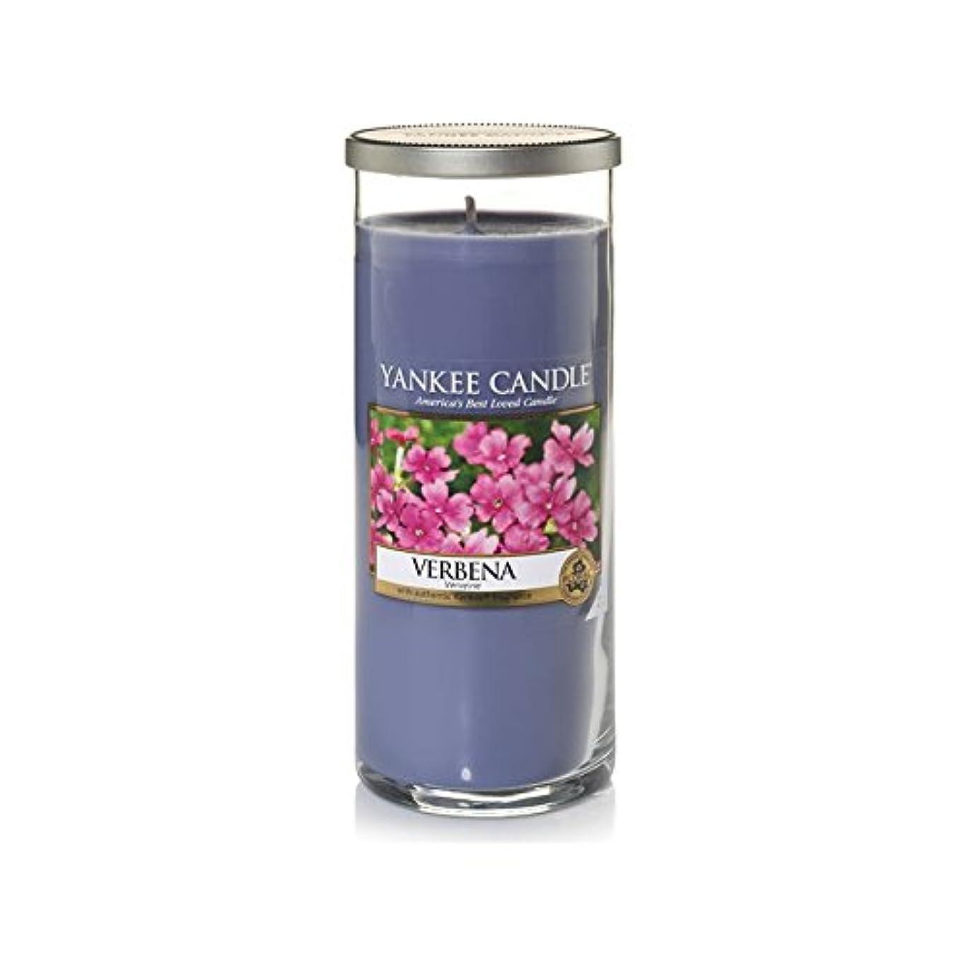 ペチュランス伴う錫Yankee Candles Large Pillar Candle - Verbena (Pack of 2) - ヤンキーキャンドル大きな柱キャンドル - バーベナ (x2) [並行輸入品]