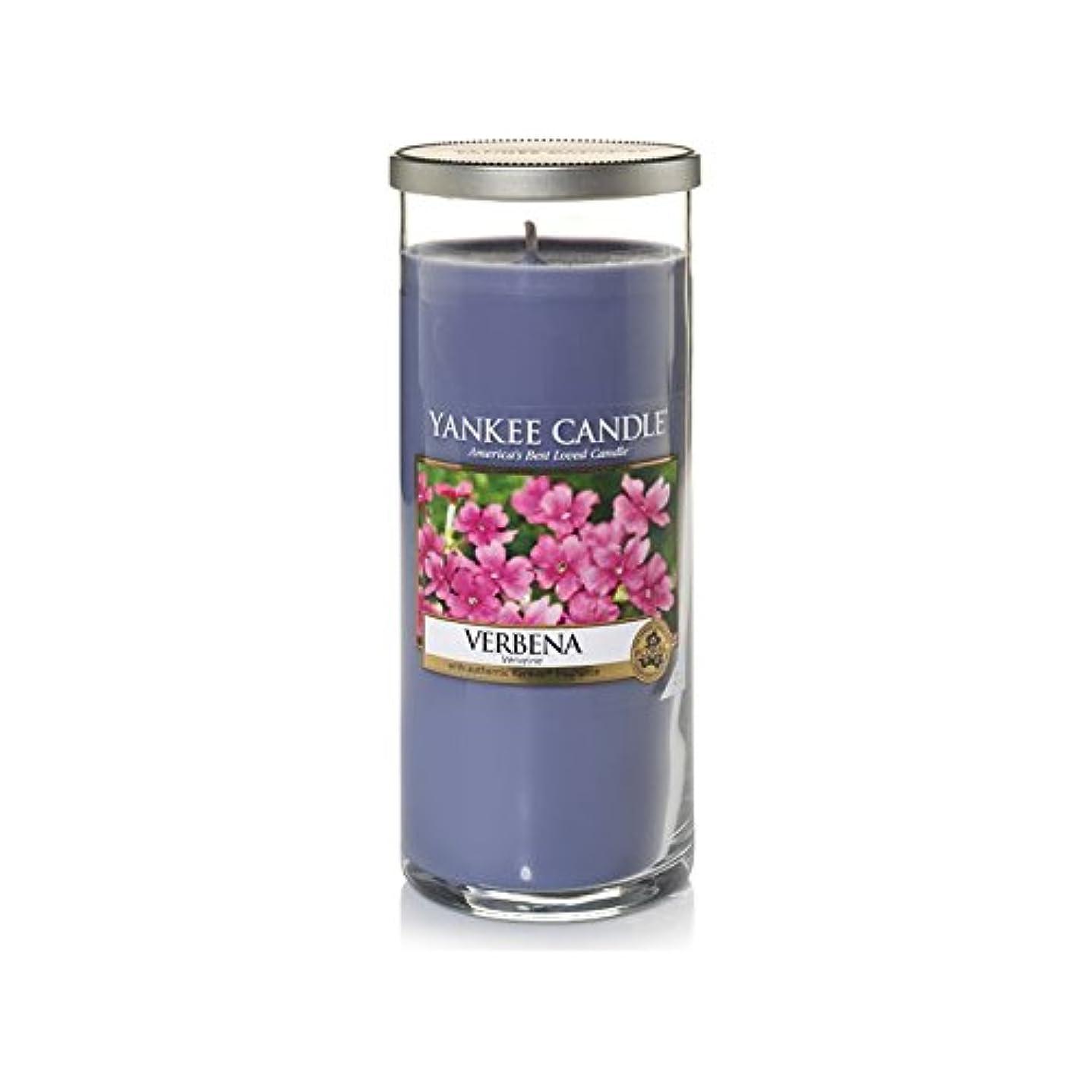 全国バンガロー座るYankee Candles Large Pillar Candle - Verbena (Pack of 6) - ヤンキーキャンドル大きな柱キャンドル - バーベナ (x6) [並行輸入品]