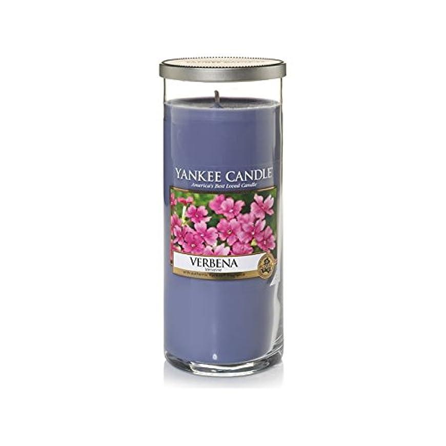 大理石無視するジョットディボンドンYankee Candles Large Pillar Candle - Verbena (Pack of 2) - ヤンキーキャンドル大きな柱キャンドル - バーベナ (x2) [並行輸入品]