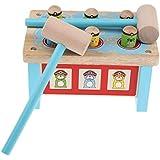 KESOTO 全2カラー 木製 ドキドキベンチ 木のおもちゃ 早期教育 知育玩具 - ブルー