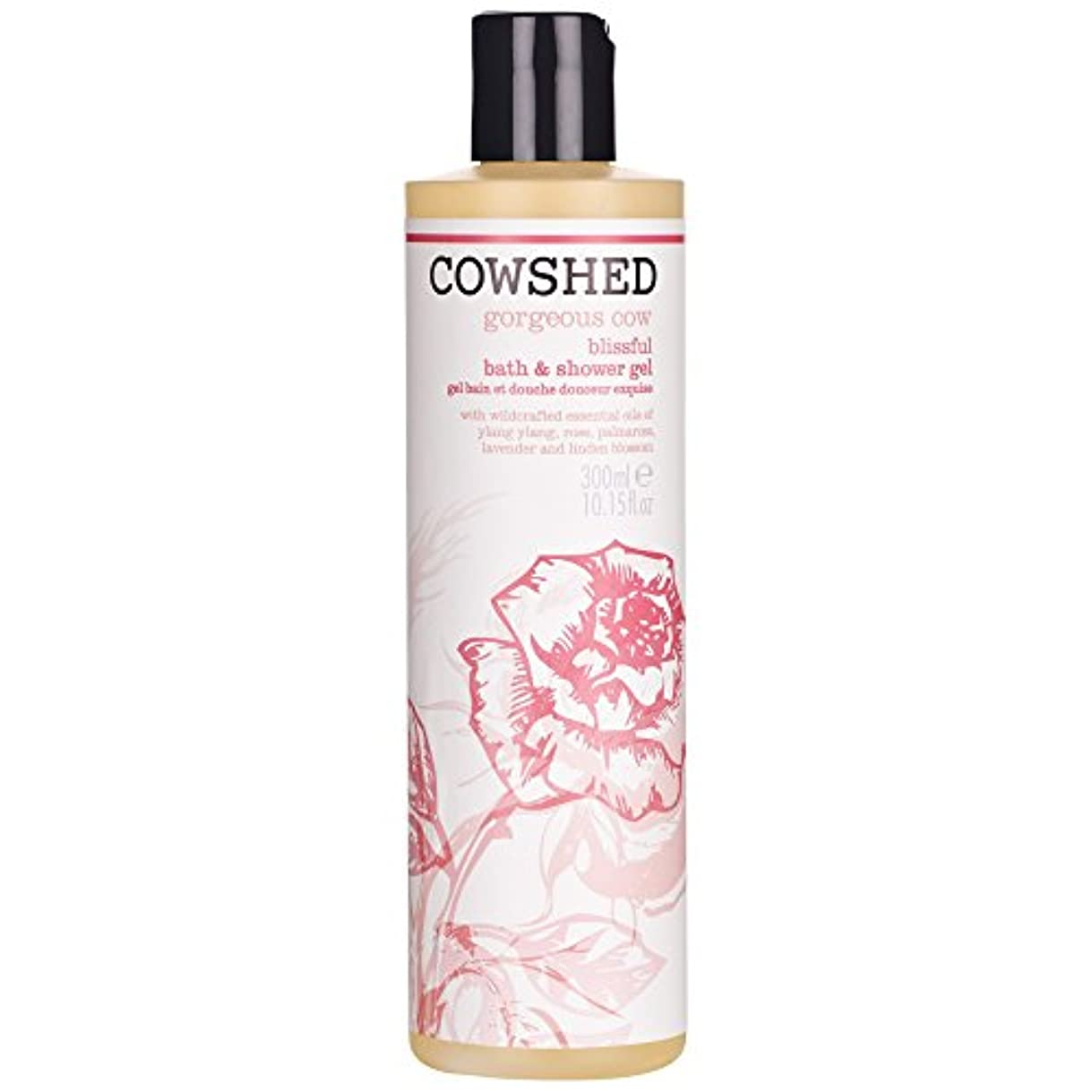 ボンド最初は開梱牛舎ゴージャスな牛のバス&シャワージェル300ミリリットル (Cowshed) (x6) - Cowshed Gorgeous Cow Bath & Shower Gel 300ml (Pack of 6) [並行輸入品]