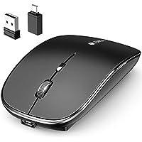 マウス BLENCK ワイヤレスマウス 充電式 小型 静音 省エネルギー 2.4GHz 3DPIモード 光学式 高感度 Mac/Windows/surface/Microsoft Proに対応 TELEC認証取得済み (ブラック)