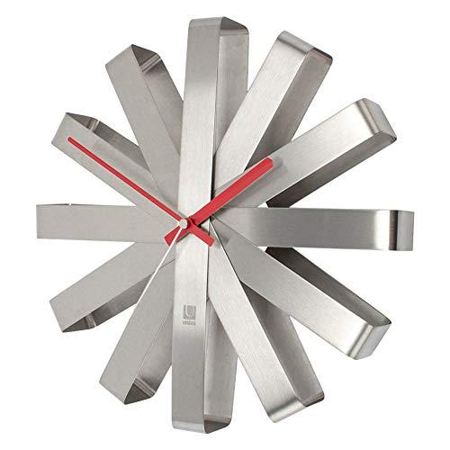 RoomClip商品情報 - [ アンブラ ] Umbra 壁掛け時計 リボンクロック おしゃれ 掛け時計 118070-590 シルバー Ribbon Clock Steel デザイン 家具 インテリア