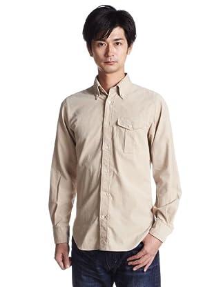Corduroy Buttondown Shirt 3111-599-0740: Beige