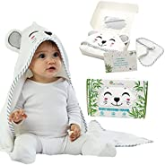 Natural Bamboo Baby Hooded Towel For Babies and Toddlers - Premium, Ultra Soft, Super Absorbent and Unisex Des