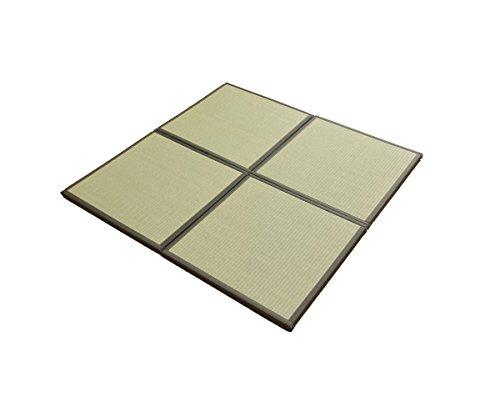 国産い草 置き畳「あぐら」【tm】ブラック(#8608509) (約)67×67cm