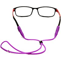 2 Pcs Silicone Round Intubation Eyeglass Cord Adjustable Lanyard Anti-Slip Anti-Falling Eyeglasses Holder Sunglasses Neck Strap Rope Eyewear Retainer Chains Color Random
