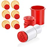 Emousport 6pcs/Set Christmas Tree Cookie Cutter Mold 3D Cartoon Stamps Pattern Sugarcraft Pastry Biscuit Fondant Cake Baking Mold (red)