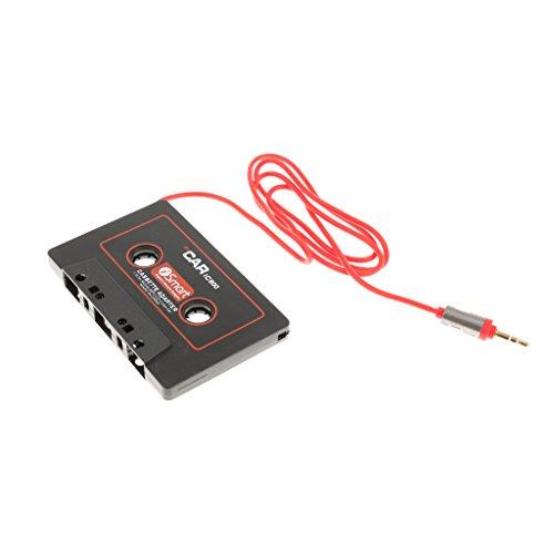 [해외]Lovoski 3.5mm AUX 자동차 오디오 IC800 카세트 테이프 어댑터 송신기 Mp3 용 블랙/Lovoski 3.5mm AUX car audio IC 800 cassette tape adapter transmitter for Mp3 black
